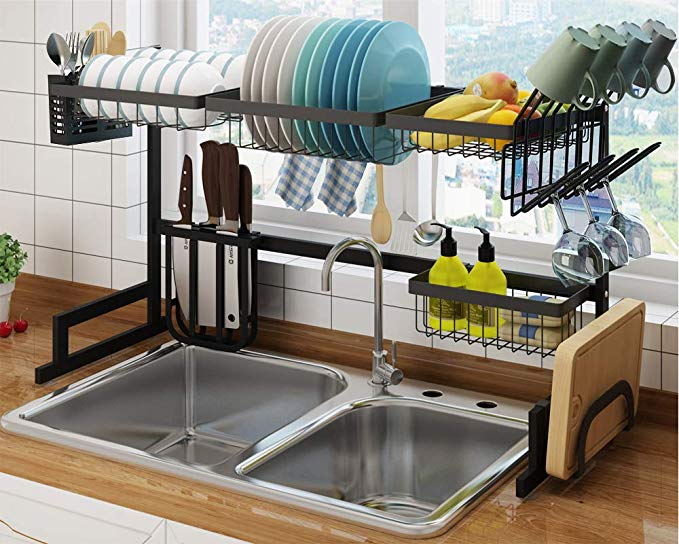 Amazon Com Shinkoda Over The Sink Dish Drying Rack Large
