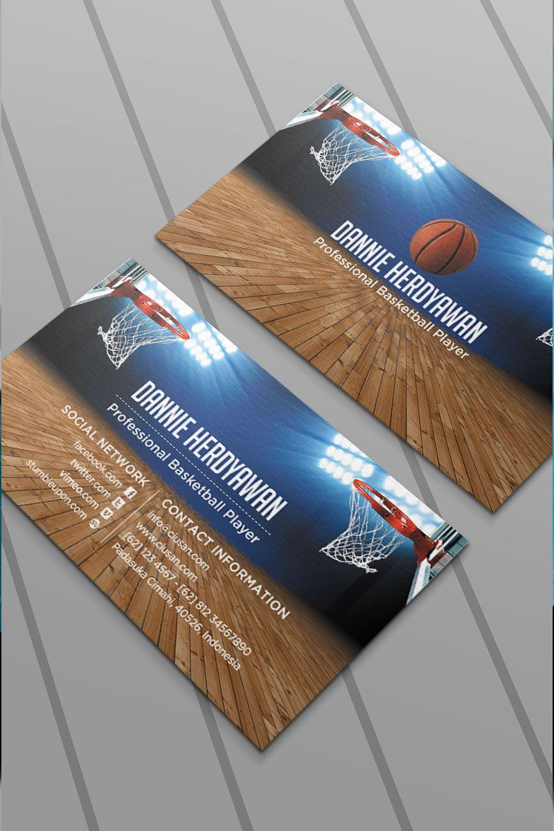Basketball Business Card Psd Template 65118 With Images