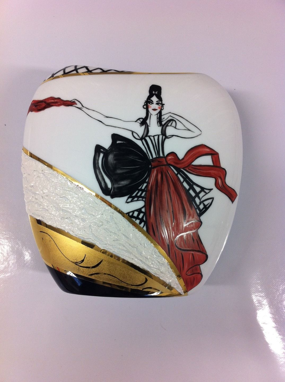 Vase porcelaine de limoges moderne design accessoires de for Accessoires maison design