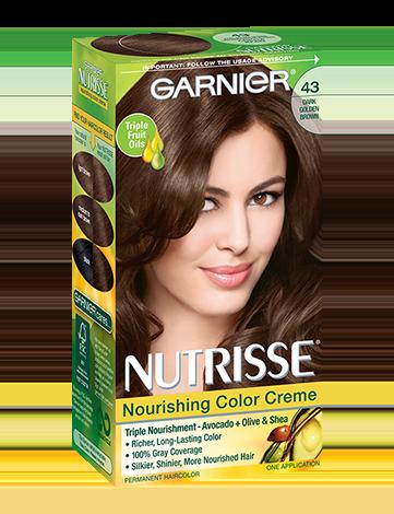Nutrisse Nourishing Color Creme Dark Golden Brown 43 Garnier Boxed Hair Color Hair Color Nourishing Hair