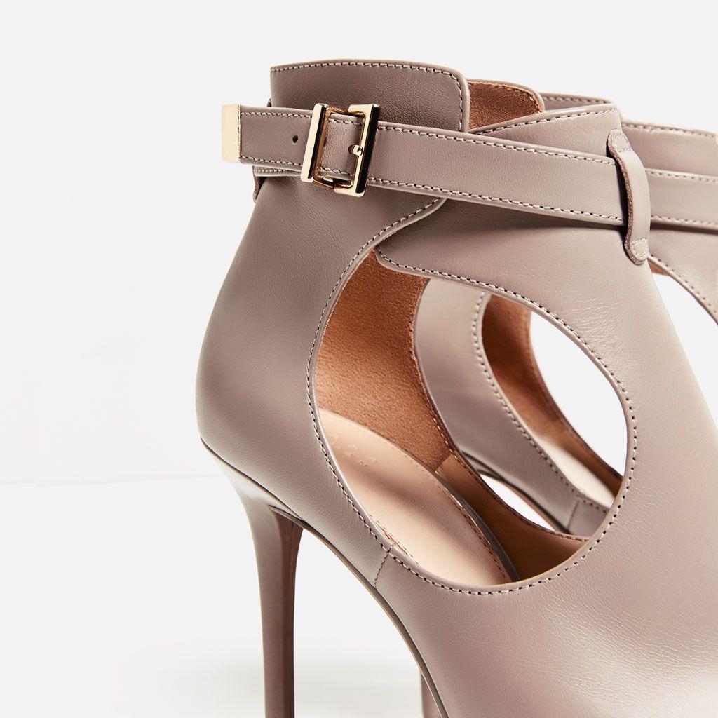 Sandaly Botki Z Odkrytymi Palcami Skora Buty Kobieta Zara Polska Shoes Heels Peep Toe