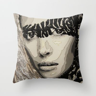 Safary Throw Pillow by AsyaCreativeArt - $20.00