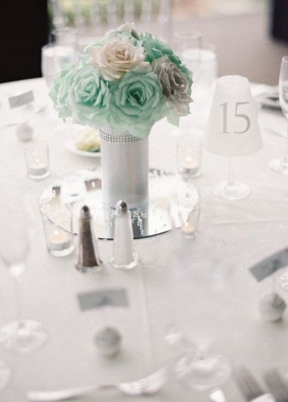 Mint Green Wedding Centerpiece Bridal Table By Centertwine