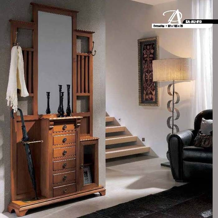 Recibidor cl sico muebles saskia small entryway decor for Recibidores clasicos