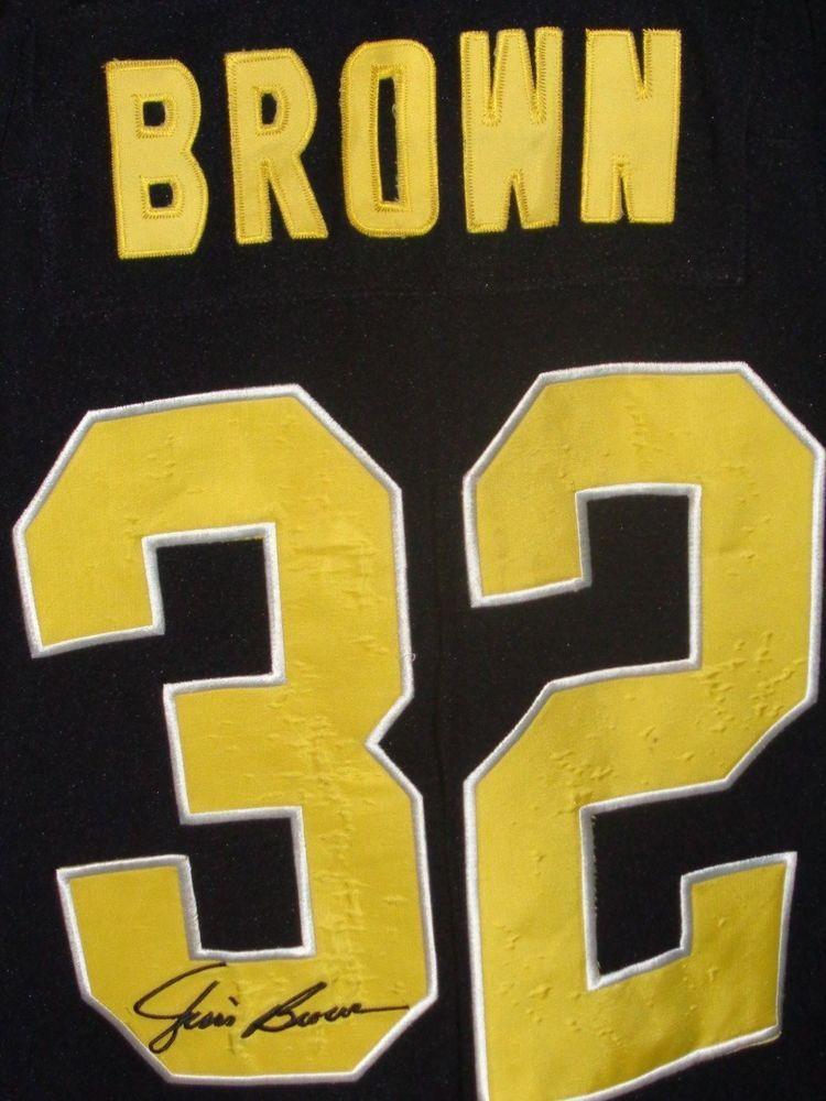innovative design 8e10a de569 Jim Brown Cleveland Browns black size 58 long sleeve jersey ...