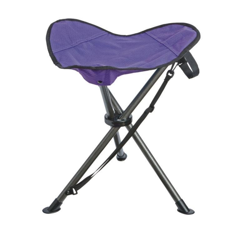 Quest Oversized 3 Legged Stool Purple Portable Stool