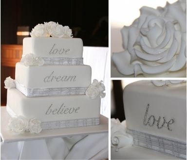 Wedding Cake with Crystals by Classic Cakes a stunning three
