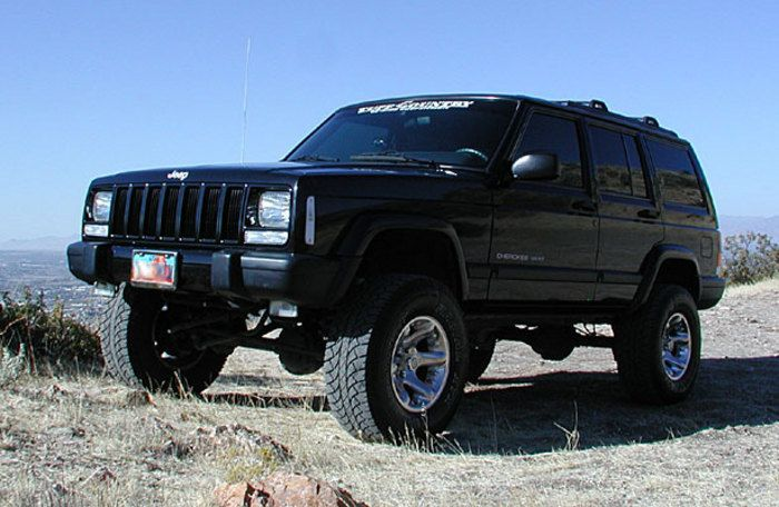 1987 2001 Jeep Cherokee 4x4 3 5 Lift Kit With Rear Leaf Springs