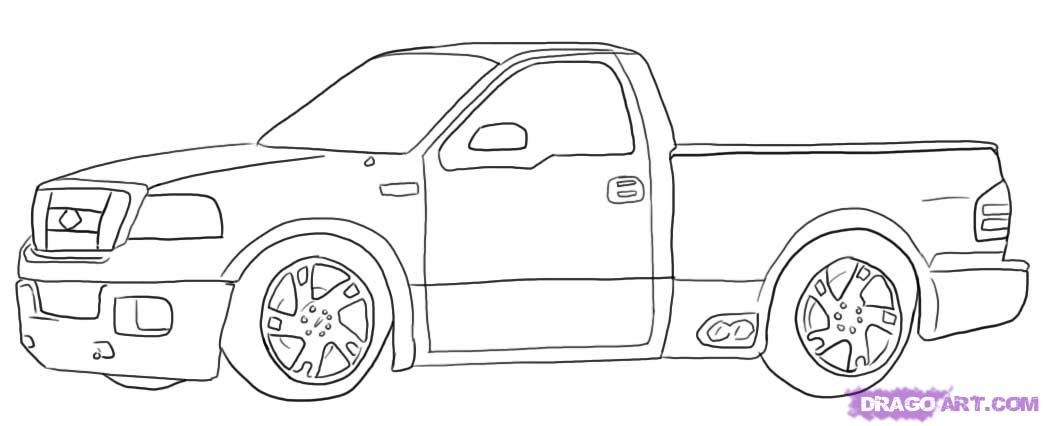 How To Draw An Apple Red Ford Lightning Pick Up by Dawn