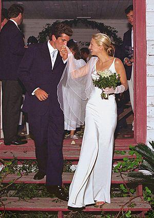 Carolyn Bessette Wedding.Carolyn Bessette And John F Kennedy Jr Were Married In A Secret