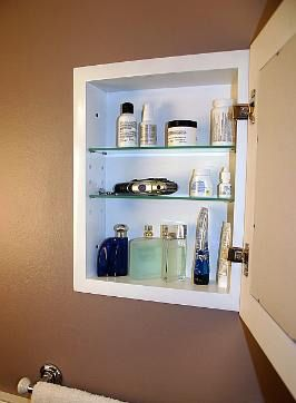 Concealed Cabinet By Iinnovators Recessed Medicine Cabinet
