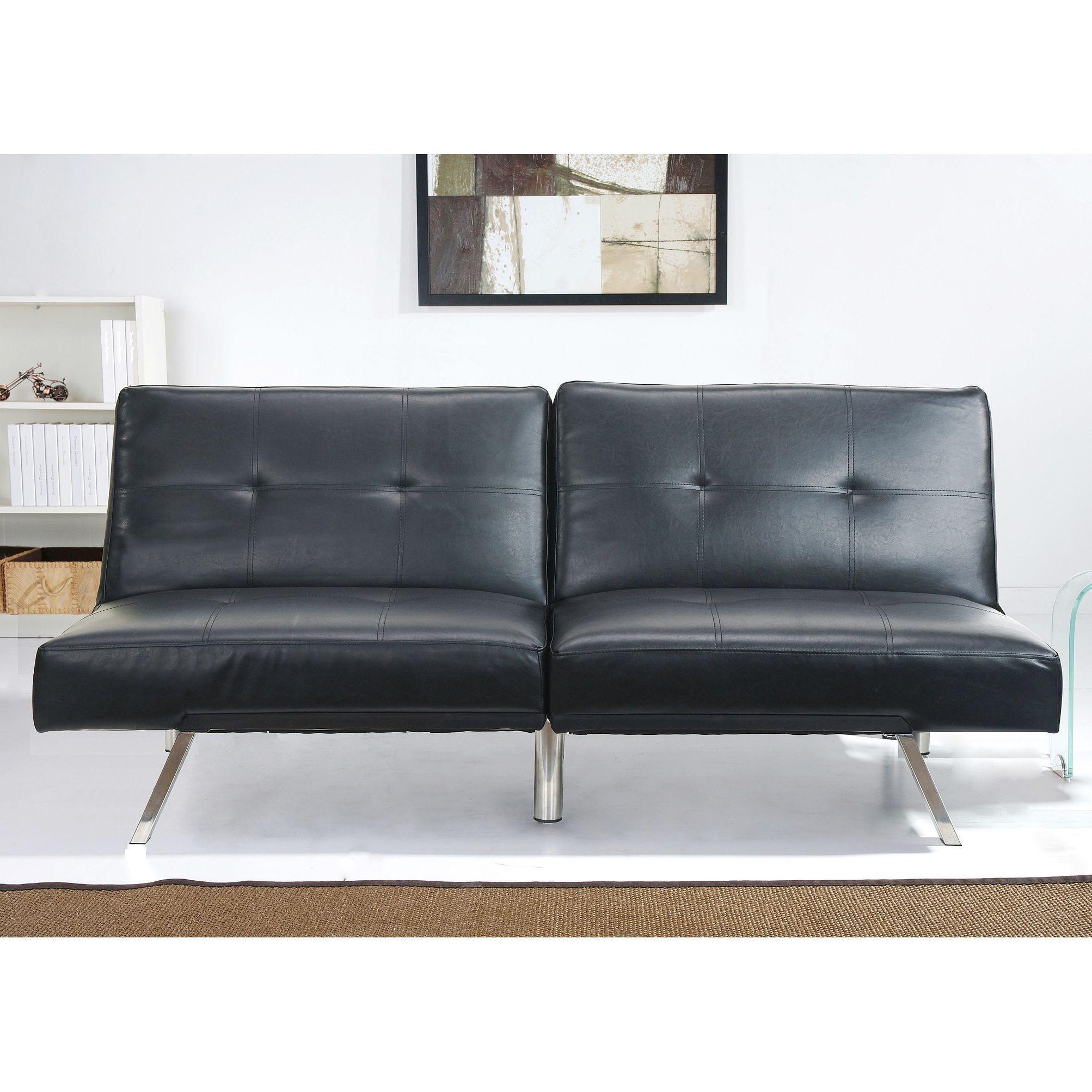 abbyson living aspen black leather foldable futon sleeper sofa bed rh pinterest com Modern Sectional Sofa Bed Chai Microsuede Sofa Bed