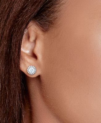 round in d diamond ct gold ear tw f white gh stud ijsi martini setting earrings carat