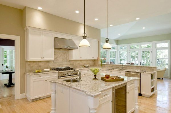 Modern Kitchen Granite Countertops modern kitchen bianco romano granite countertops white cabinets