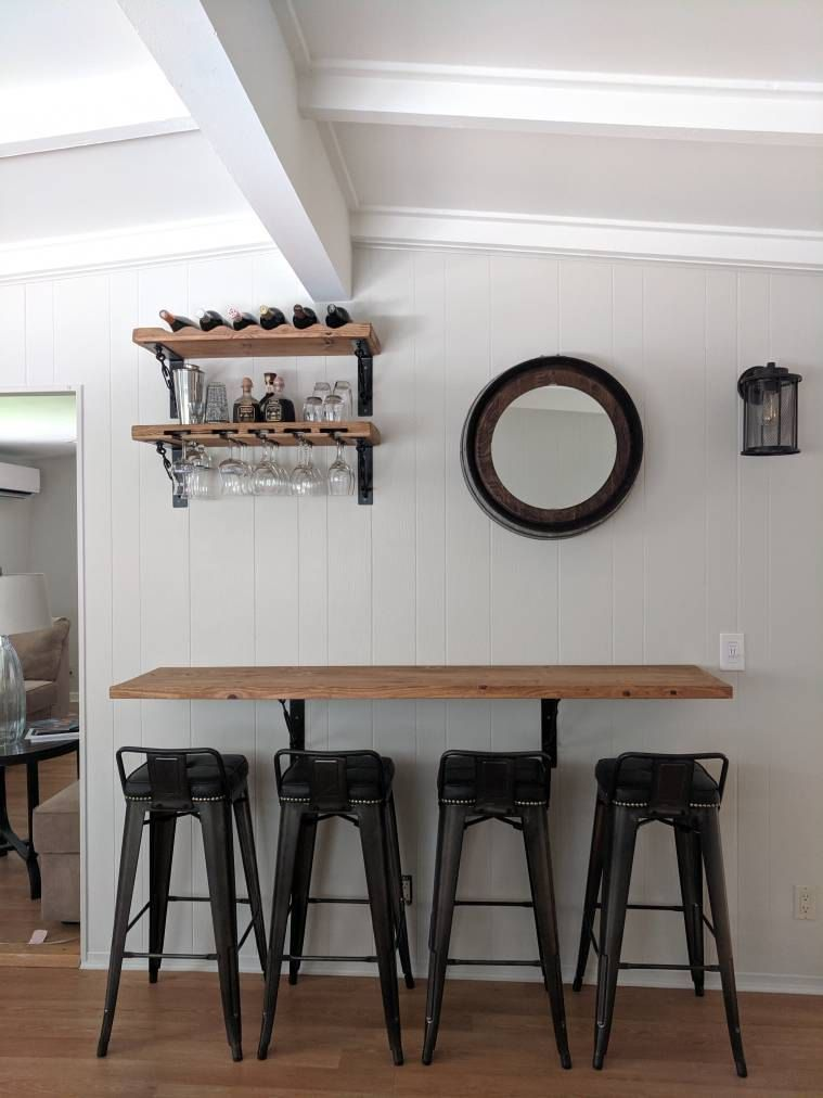 Kitchen dining wall mounted bar/Handmade industrial metal ...