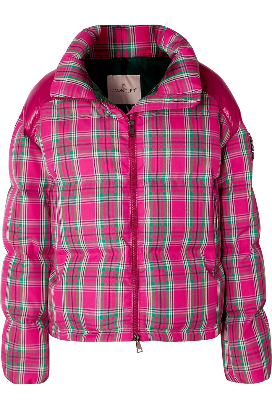 Moncler Crystalembellished plaid twill and shell down