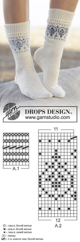 Схемы вязания носков картинки