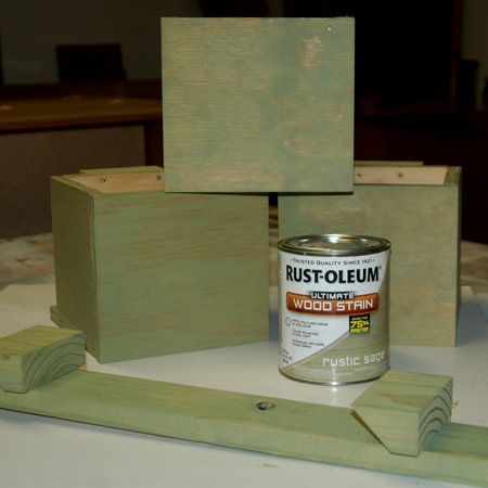 Home Dzine I Chose The Finish Planter Bo With Rust Oleum Ultimate Wood Stain In Sage Green You Can Seal Or Paint Your Desired