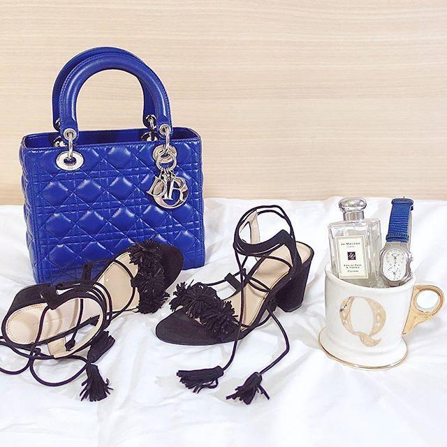 de64f536f2 Follow me on instagram: @quennandher // Lady DIOR blue bag // ZARA ...