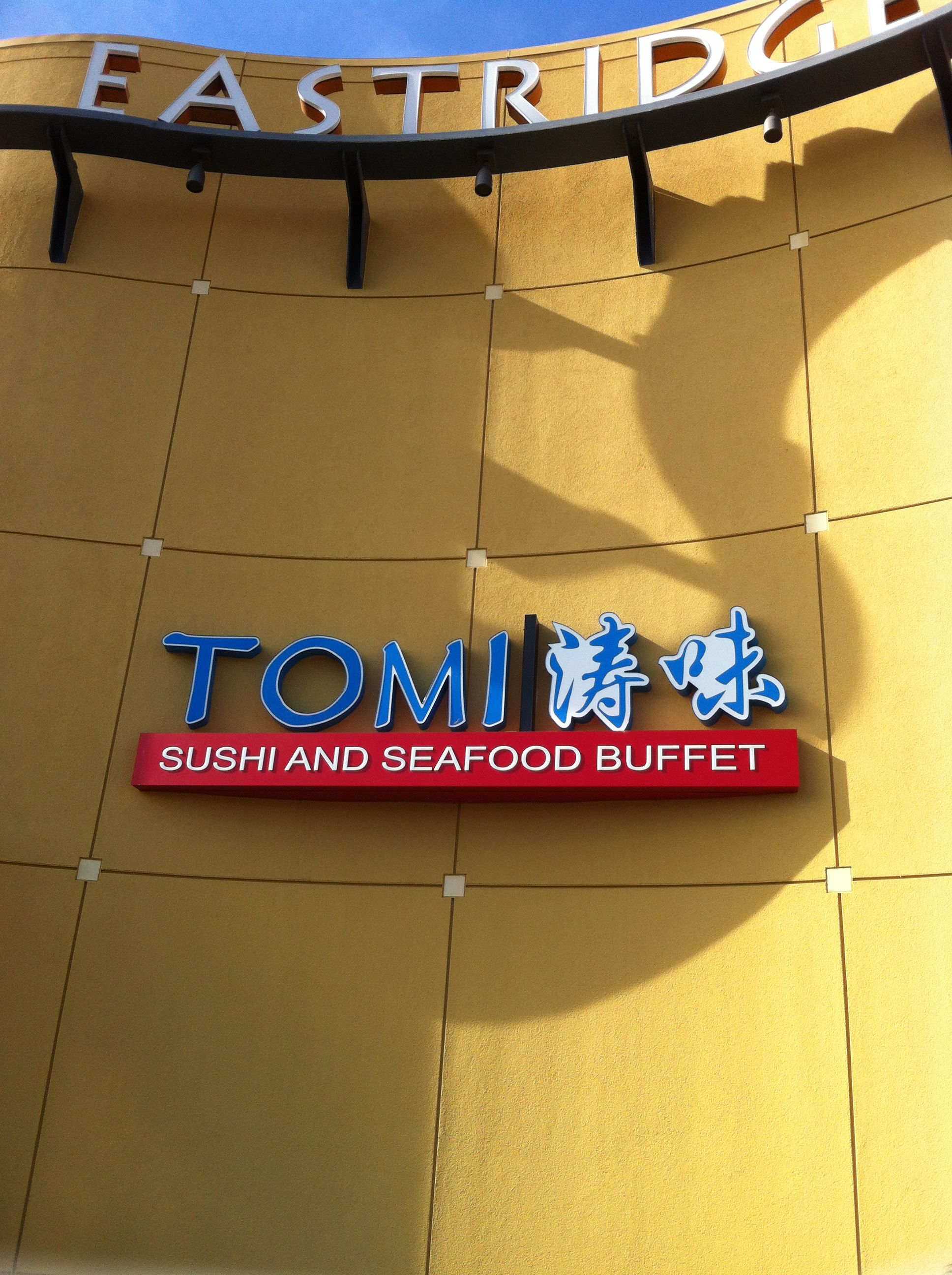 Tomi Asian Buffet restaurant in San Jose Calif by Eastridge mall ...