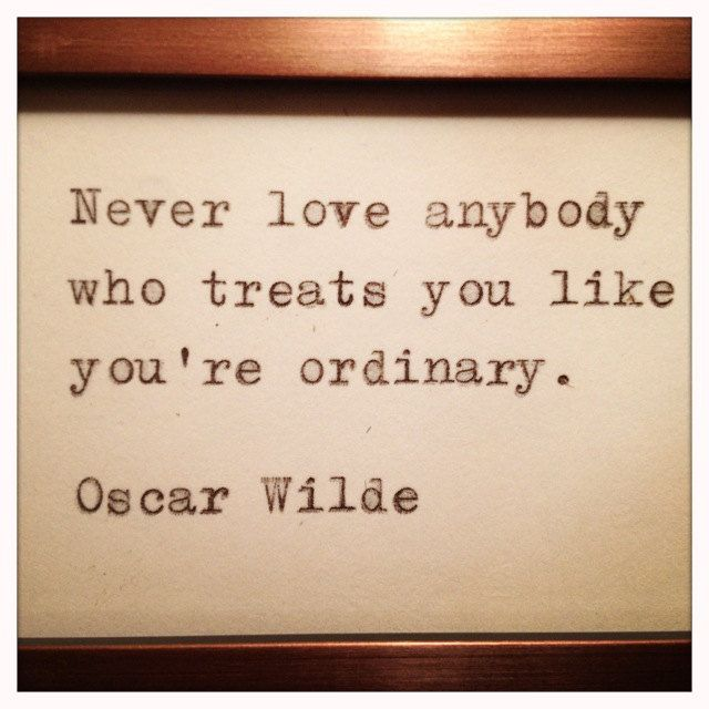 Oscar Wilde Love Quote Made On Typewriter And By Whitecellardoor
