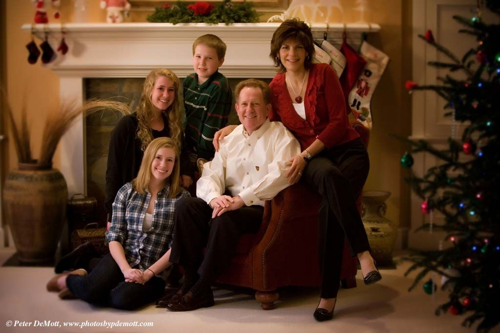 Family Portrait Ideas In The Home