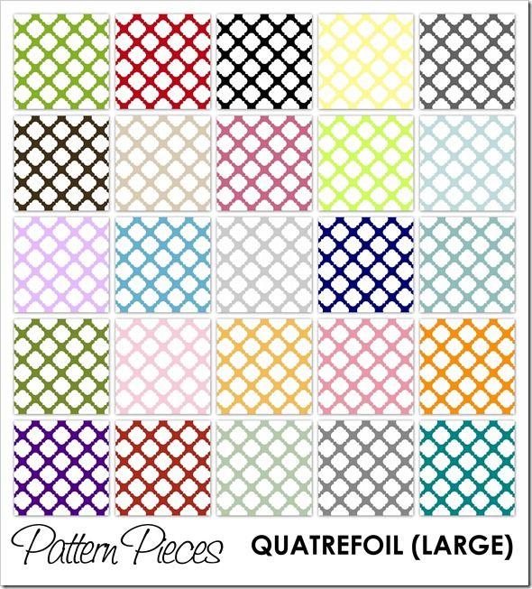 IMAGE - Pattern Pieces - Quatrefoil (Large)