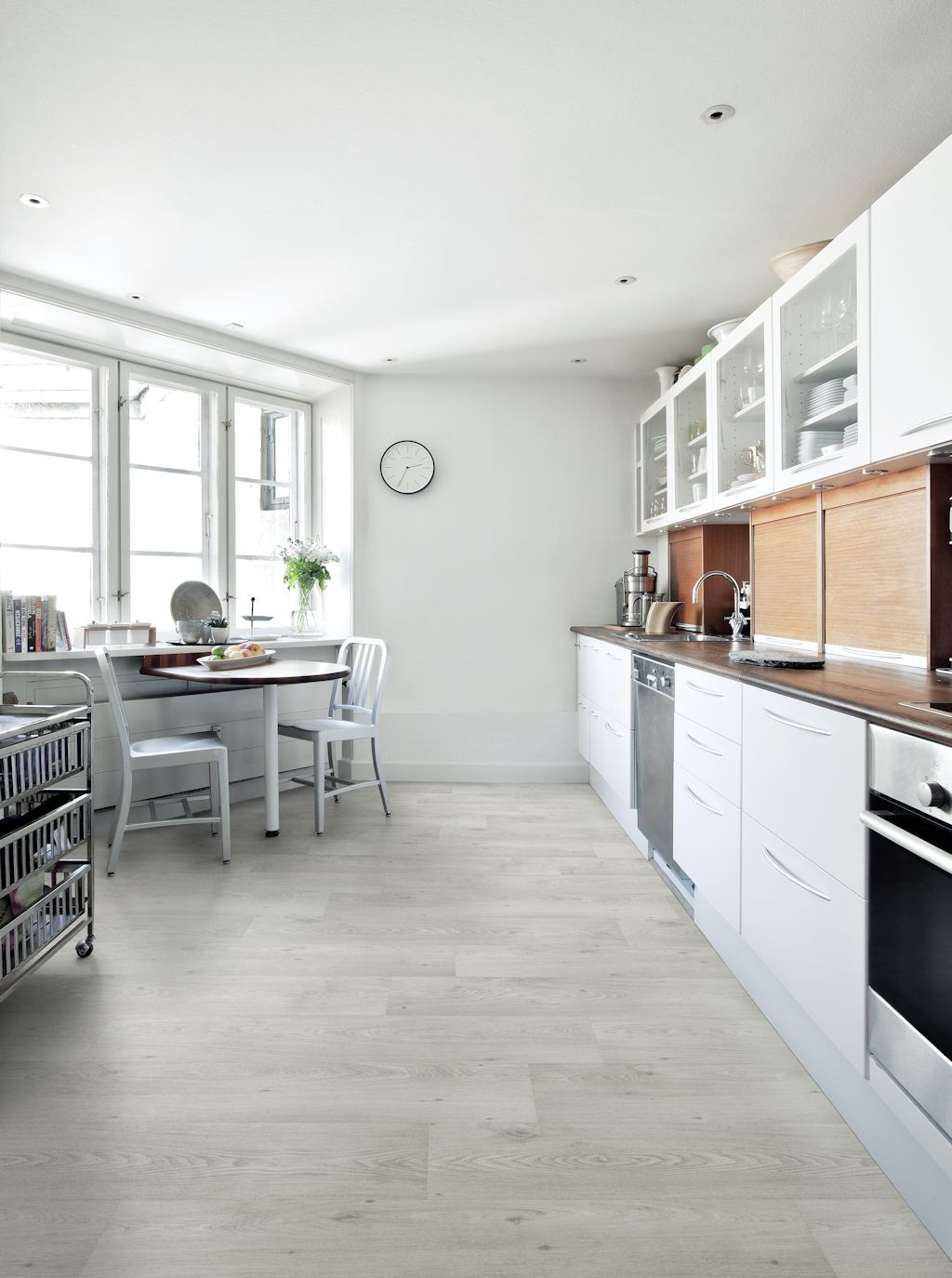 Kitchen featuring Secura PUR luxury vinyl sheet flooring in Sterling ...