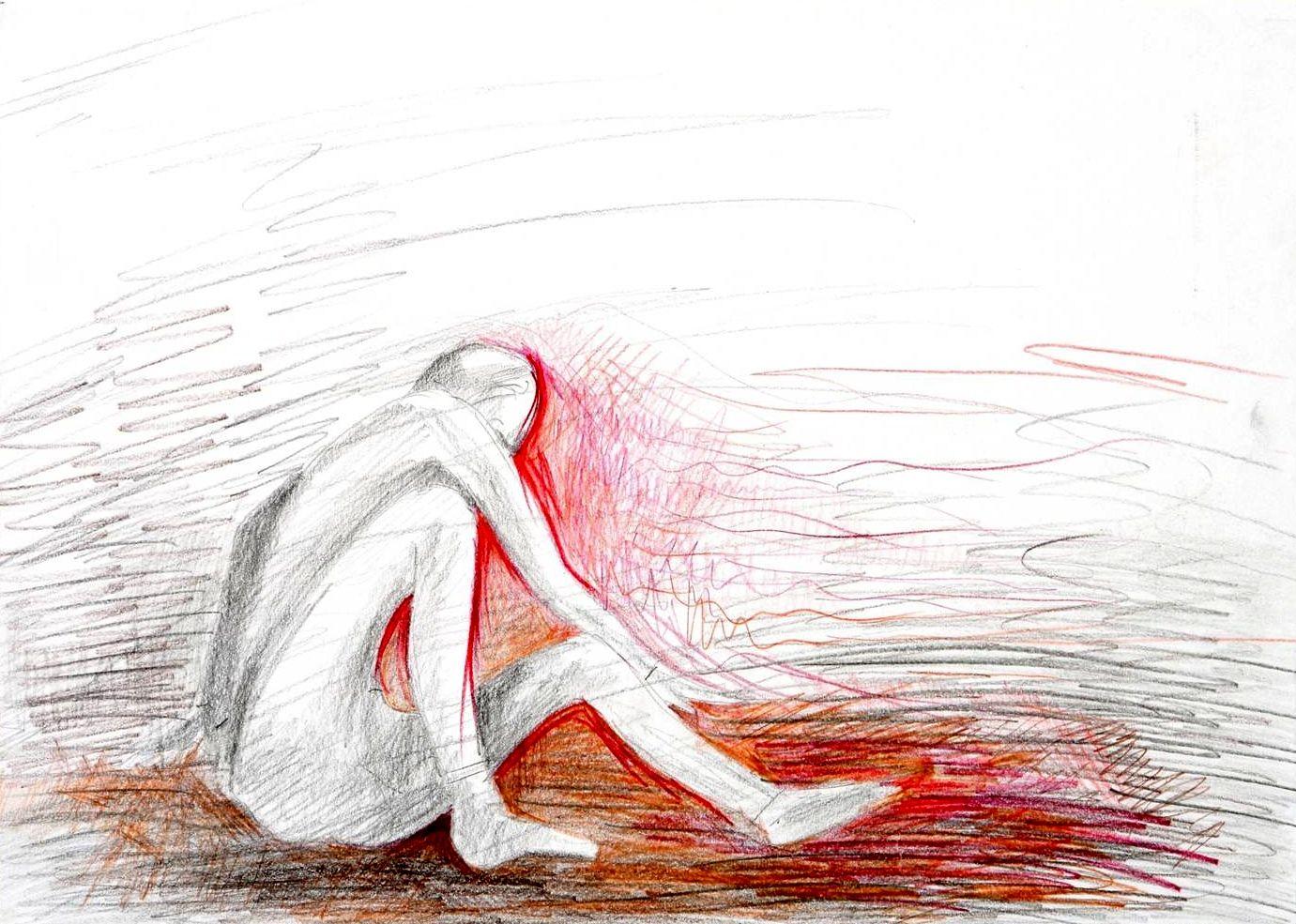 Esther Veerman - niet kunnen opstaan | Kunstwerk