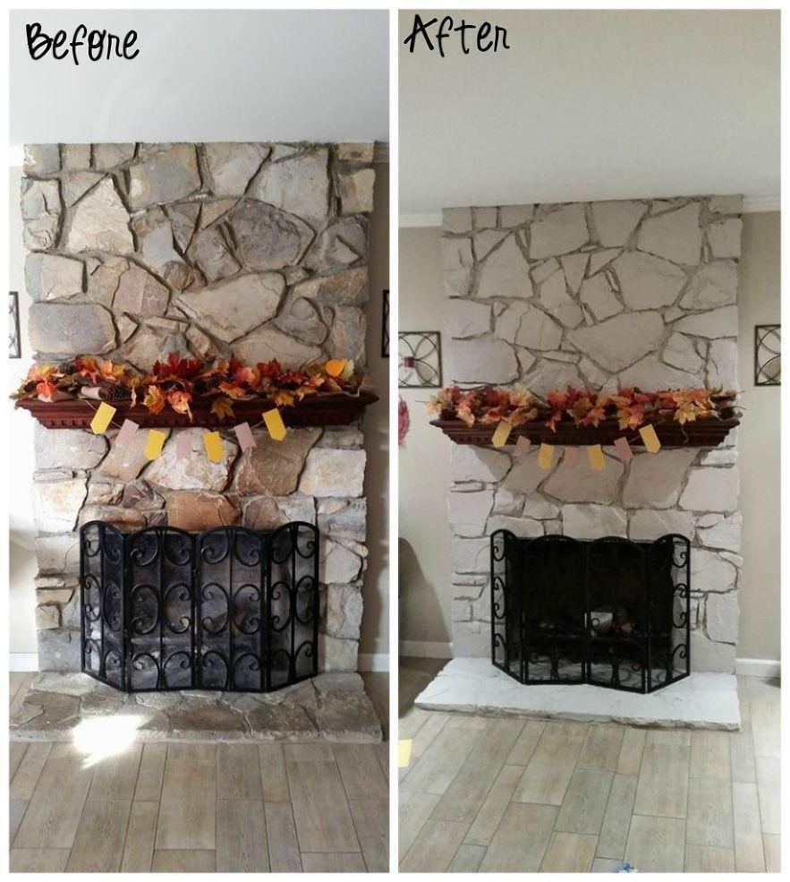 Latest Photographs whitewash Stone Fireplace Ideas Great