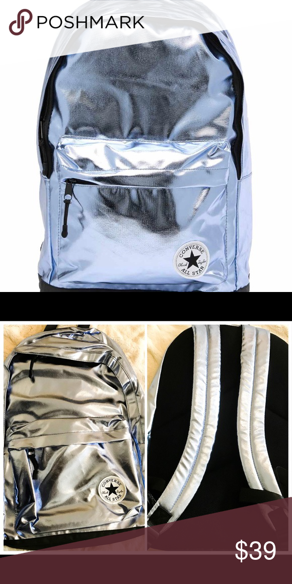17d7dd08b67 Converse can metallic day pack backpack and blue Converse can metallic day  pack backpack and blue. New with tags Converse Bags Backpacks
