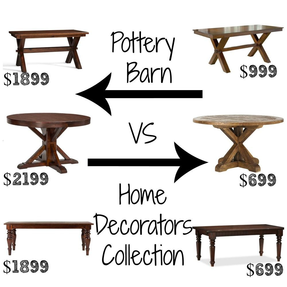 Decor Look Alikes | Dining Tables - Pottery Barn up to $2199 vs $699 ...