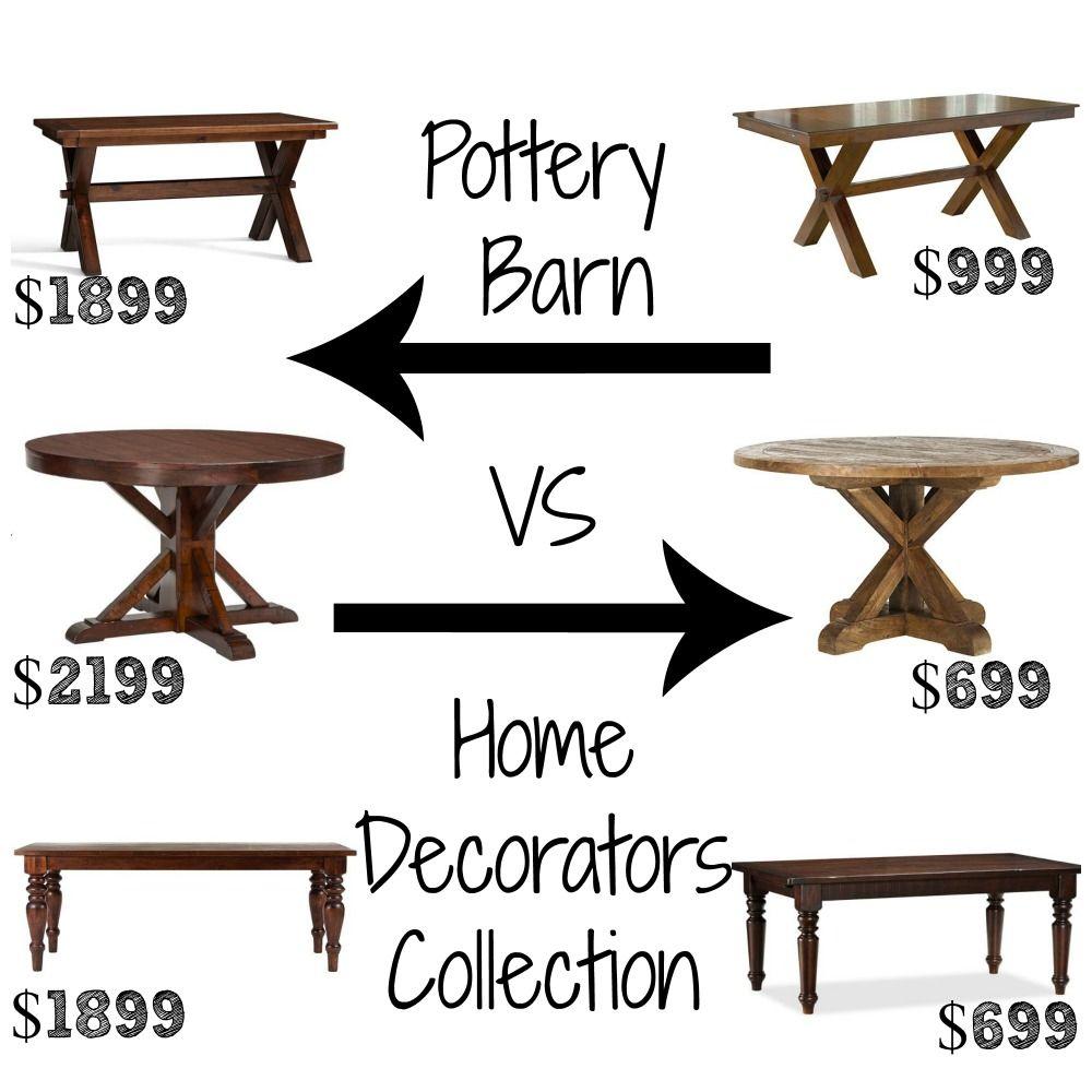 Decor Look Alikes Dining Tables Pottery Barn Up To 2199 Vs