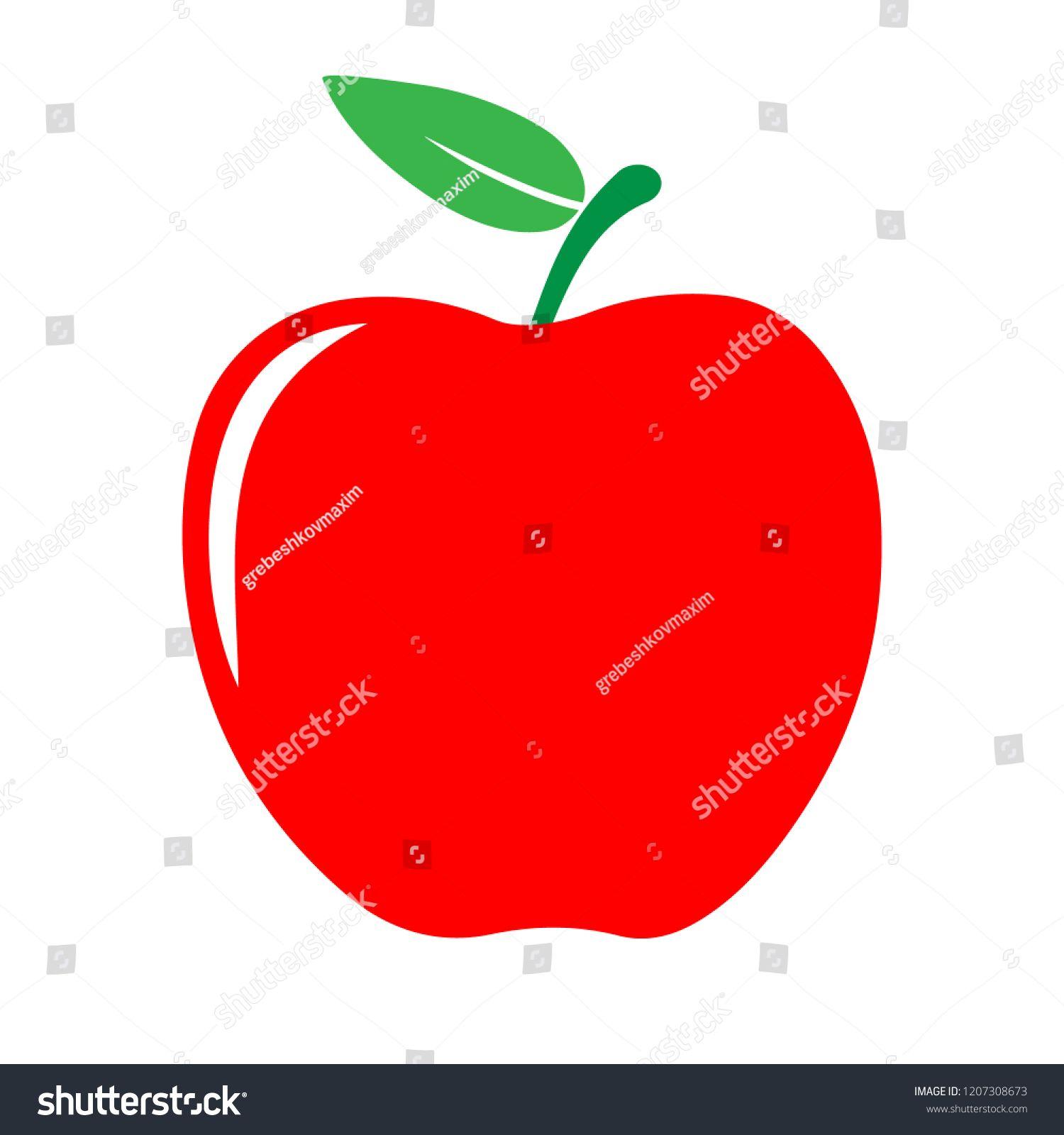 Red Apple Icon Vector Illustration Sponsored Affiliate Apple Red Icon Illustration Apple Icon Red Apple Vector Illustration