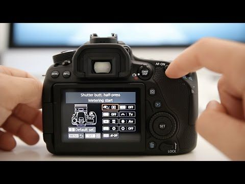 Canon 80D Tutorial - How to set up Back Button Autofocus