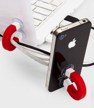 Suporte pra Iphone + cabos