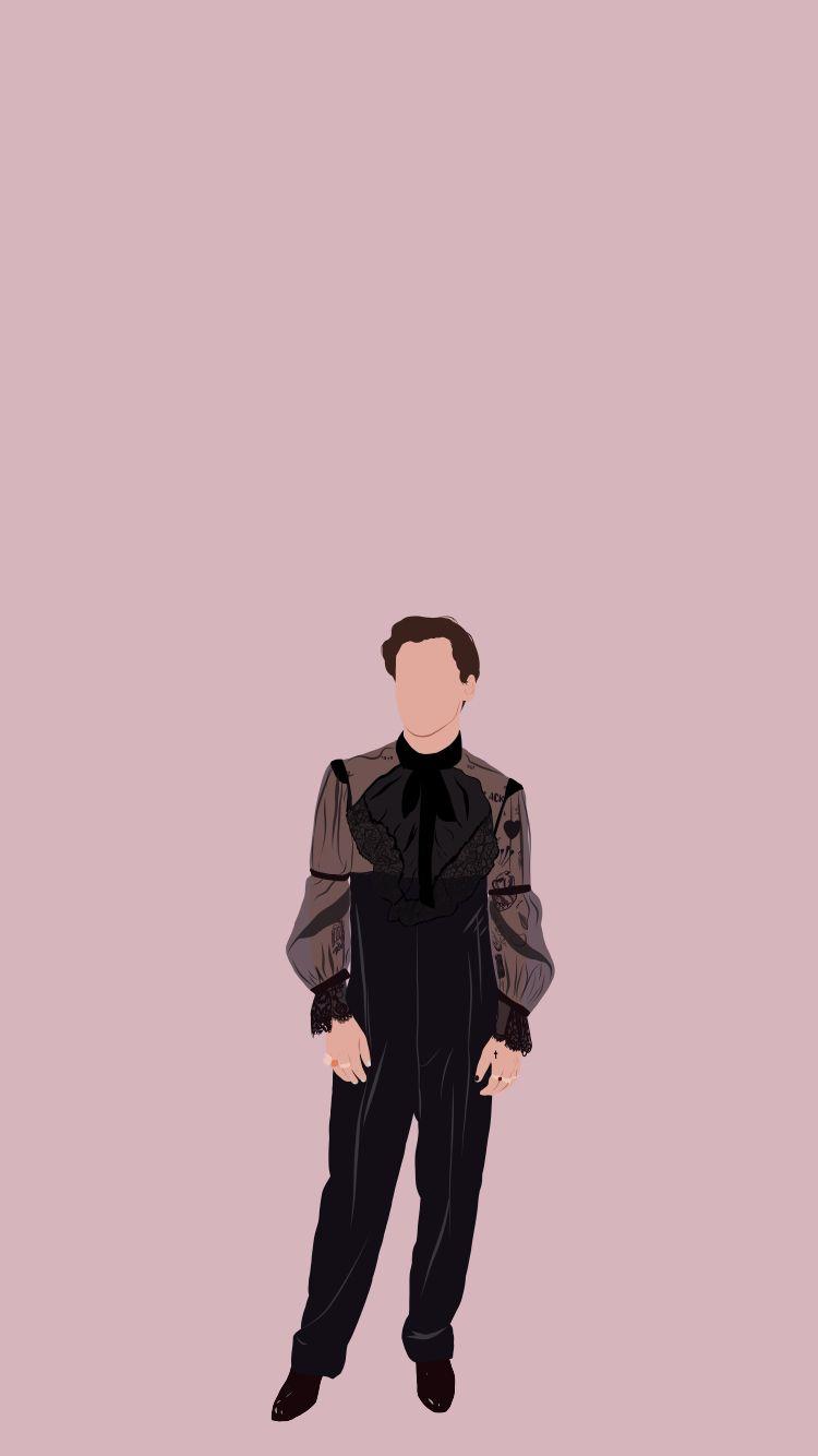 Harry Styles illustrated wallpaper. Harry Styles fondo de pantalla ilustrado
