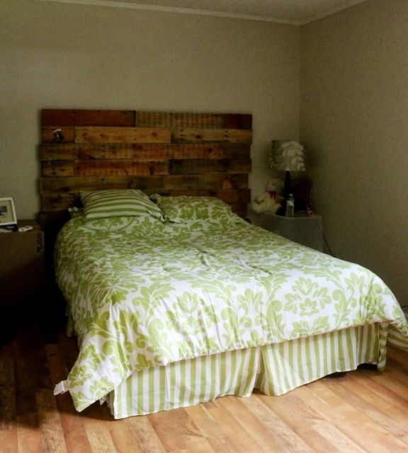 Excellent Idea Of Wood Pallets Headboard Image Furniture Wood Pallet ...