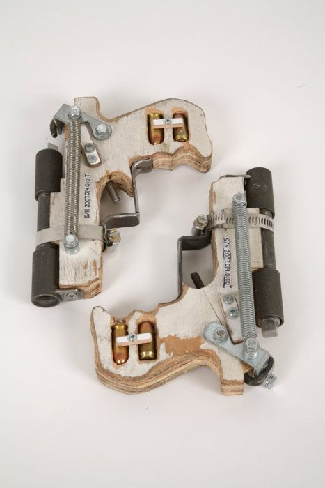 Its by the Artist Tom Sachs Here is the link to this piece on his site. He does some ridiculously amazing pieces. A mixture of art engineering http://www.tomsachs.org/wor... LEM: ATF: MSA: Hand Gun, .45 Caliber, Breech-loading, Handmade