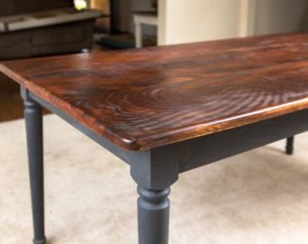 Distressed Round Fancy Farm Table