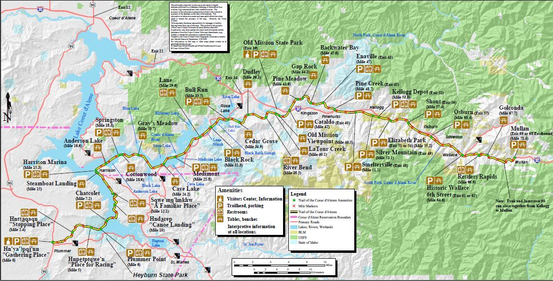 Silver Valley Idaho Map.Historic Silver Valley Chamber Of Commerce Idaho Bike Routes