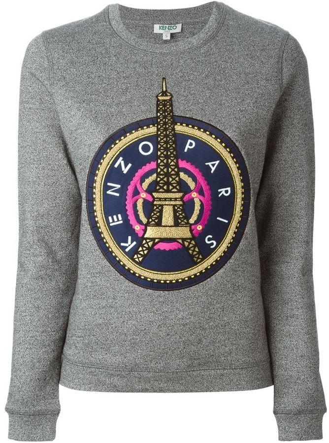Eiffel Tower' Kenzo Kenzo 'eiffel SweatshirtTour 1JKTclF