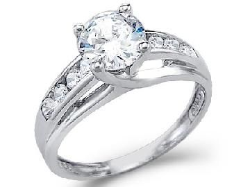 white gold wedding rings with cubic zirconia 25 anniversary vow