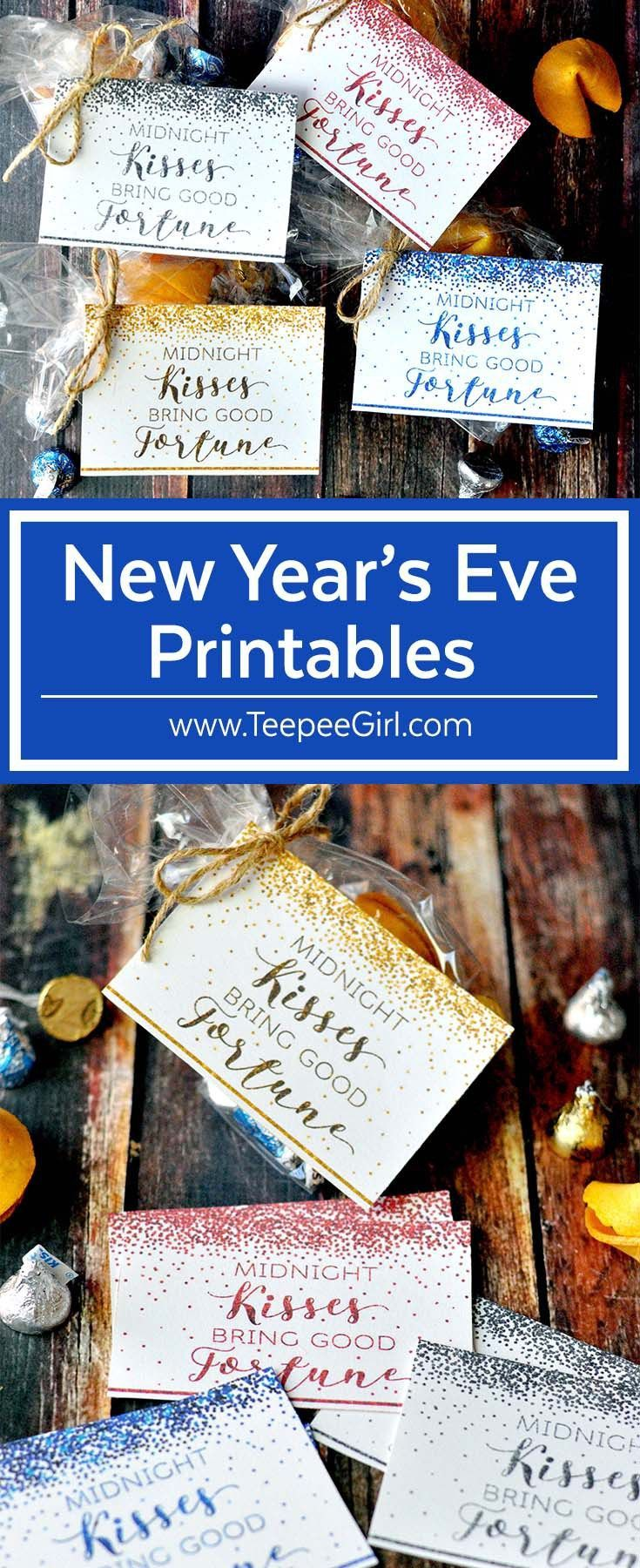 Free New Years's Eve Printable Tags | New year printables ...