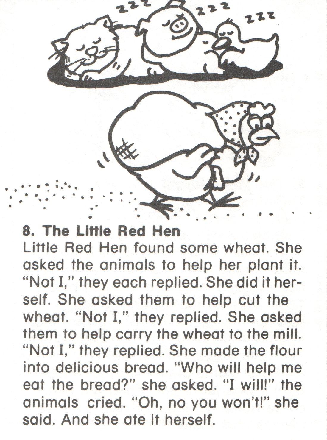 8 Little Red Hen Story