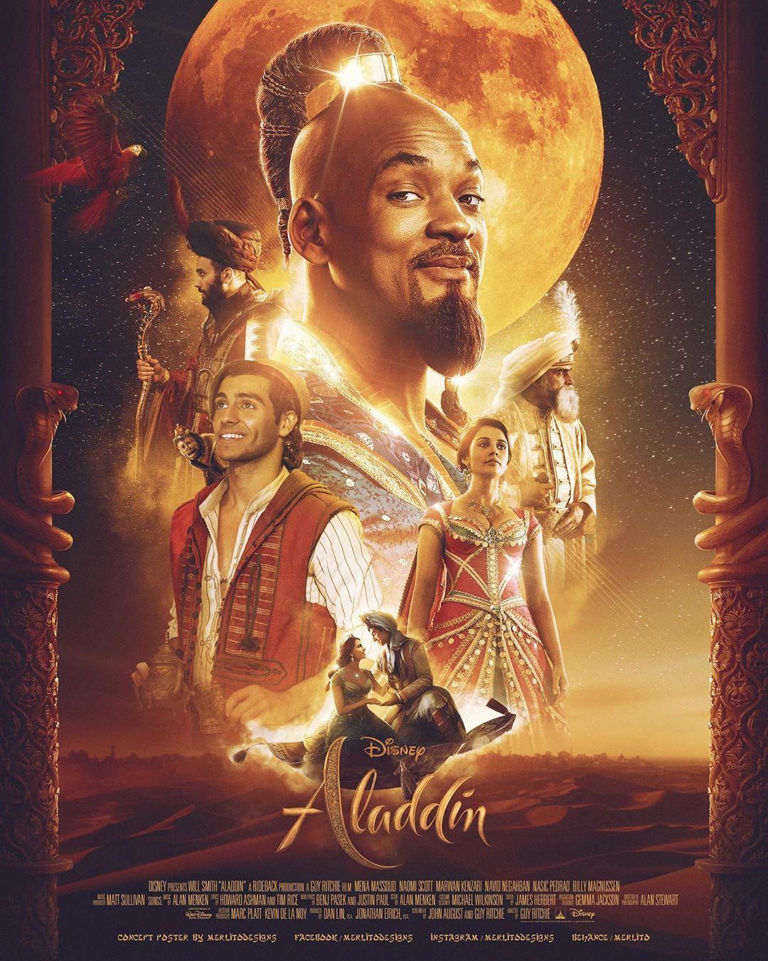 Disney S Aladdin Concept Poster By Merlitopabatao