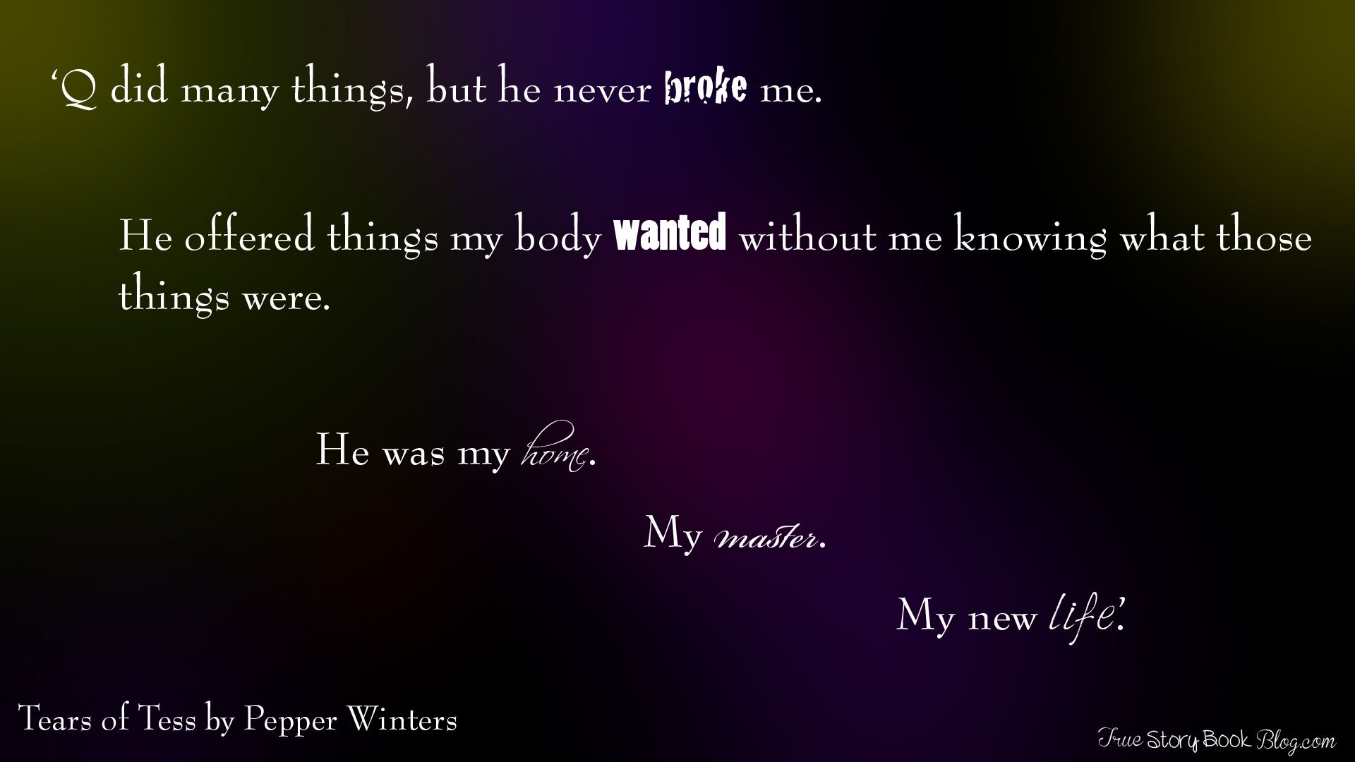 Tears of Tess by Pepper Winters | Book quotes, Quotes, Books