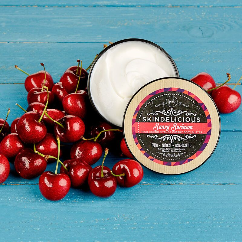 Sassy Surinam #cherry #lemon #floral #mangobutter #aloe #natural #bodybutter #perfectlyposh