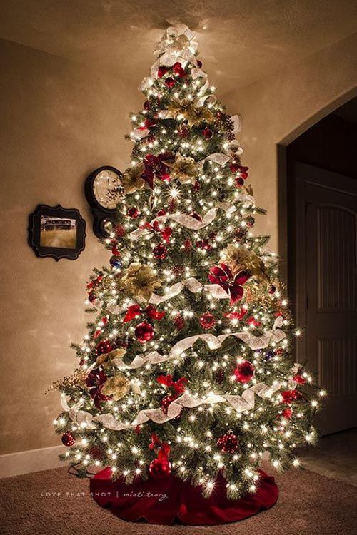 Christmas Tree Decorating Ideas For Colored Lights