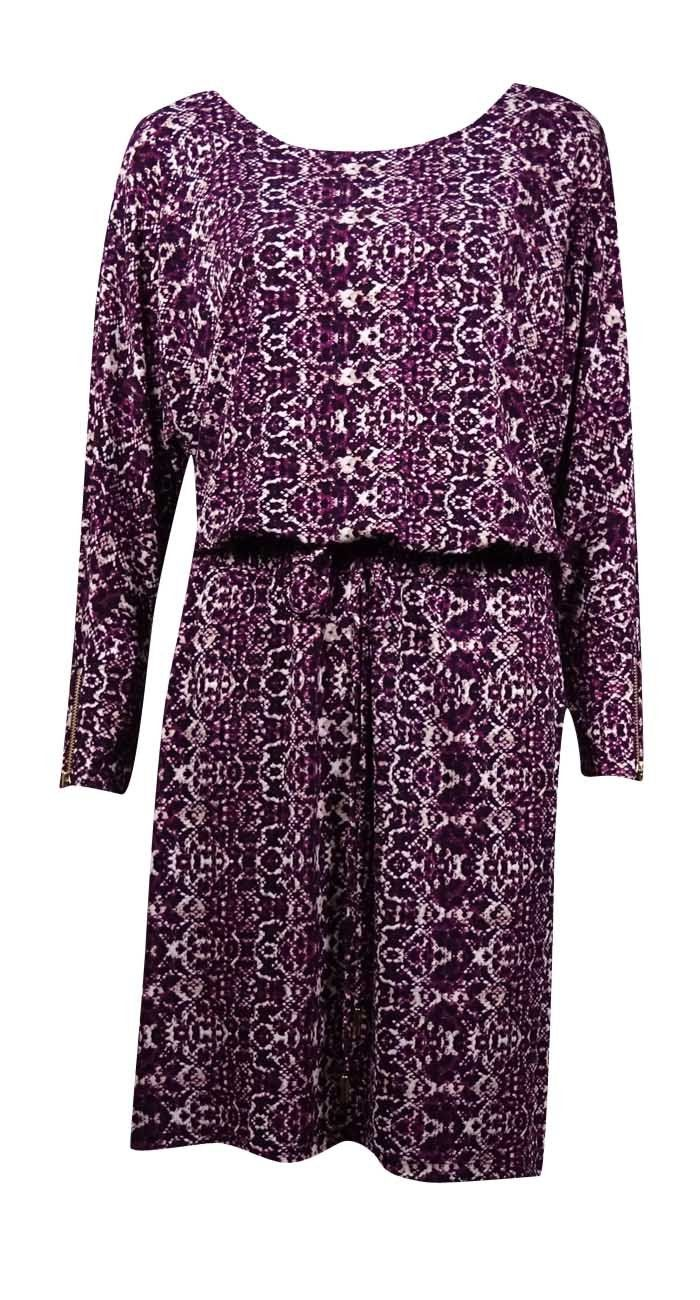 Calvin Klein Women\'s Belted Snake Jersey Blouson Dress